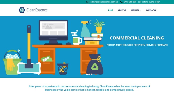 Commercial Cleaning websites