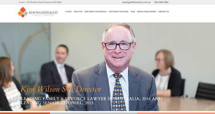 family law website design