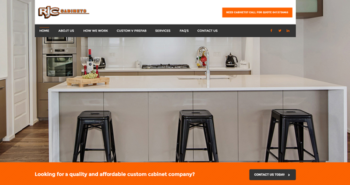 Cabinet making website